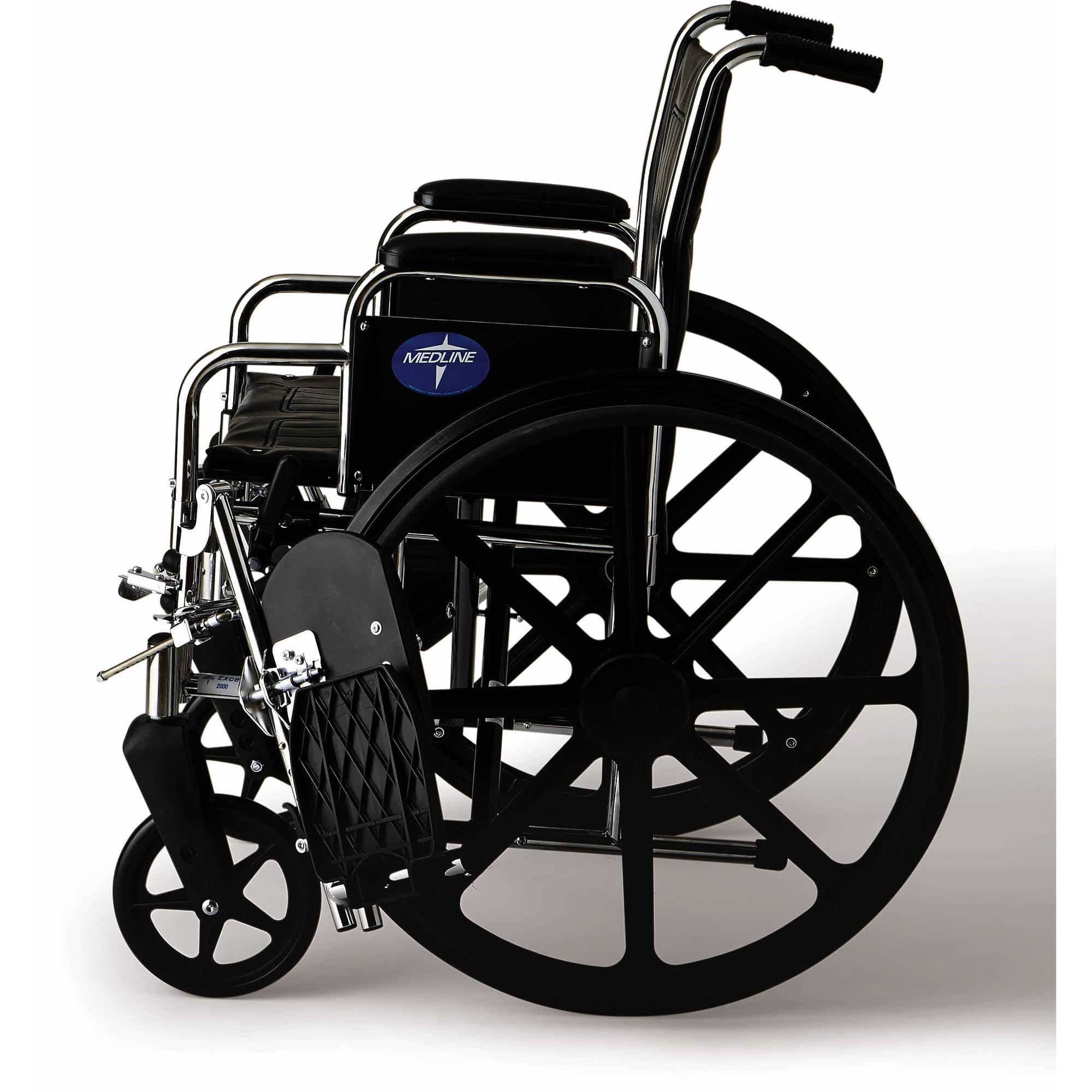 Medline Excel 2000 Deluxe Wheelchair Walmart
