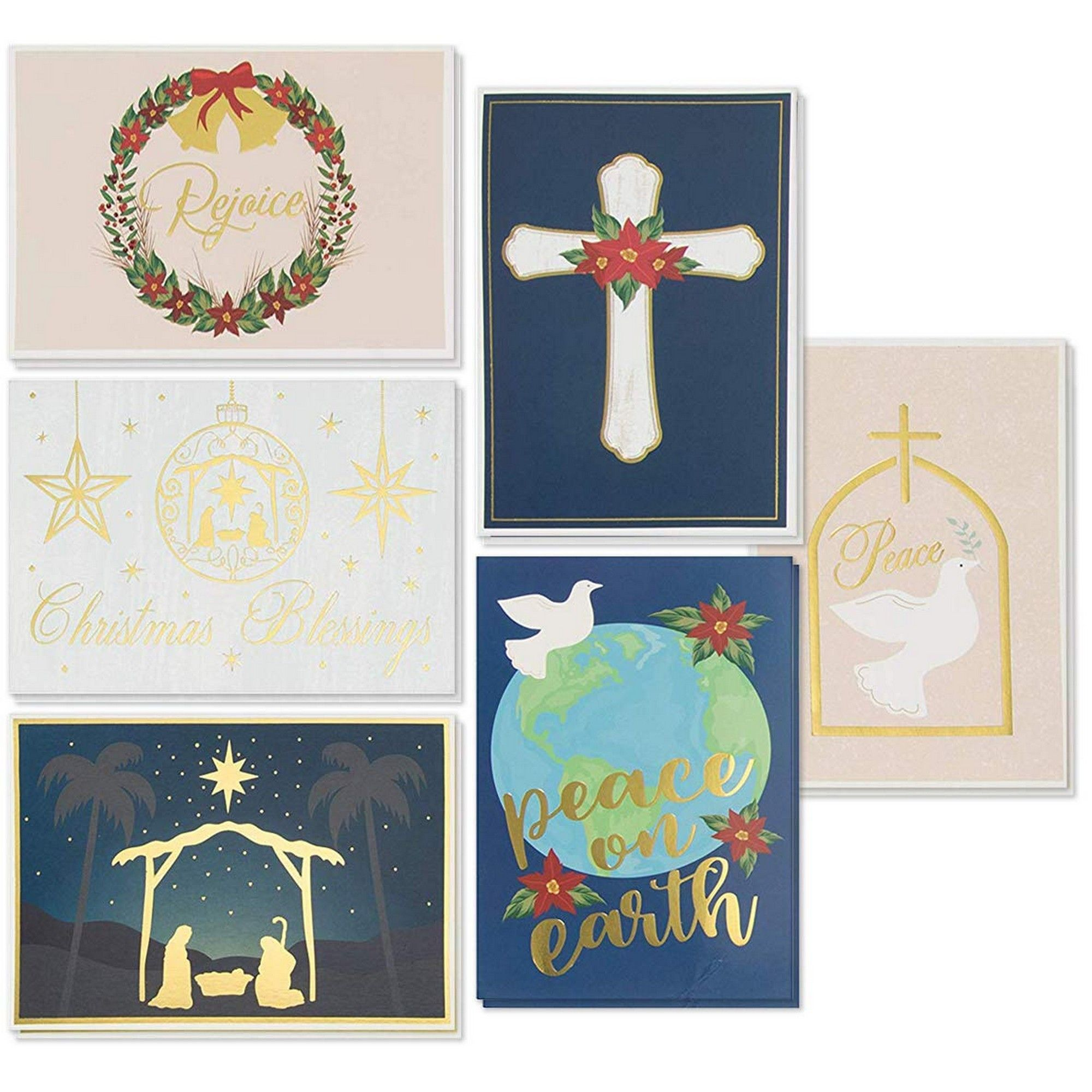48-Pack Religious Christmas Cards