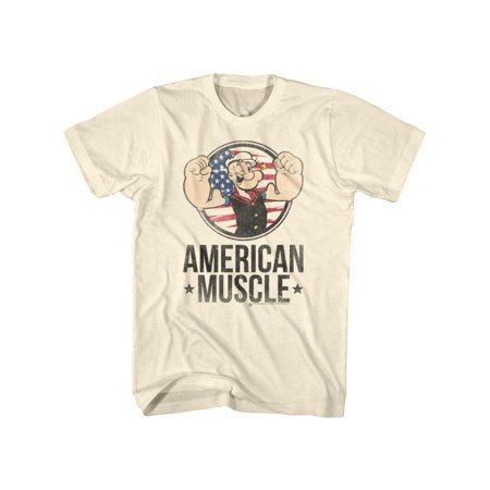Popeye The Sailor Man 1960's Cartoon Vintage Style American Muscle Adult T-Shirt](1960's Women)