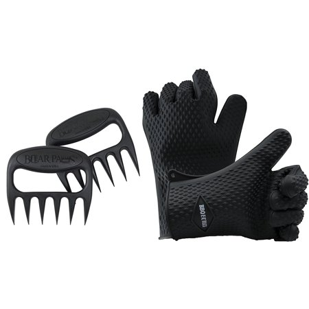 Silicone Heat   Water Resistant Cooking Gloves With Bear Paws Pulled Pork Shredder Claws