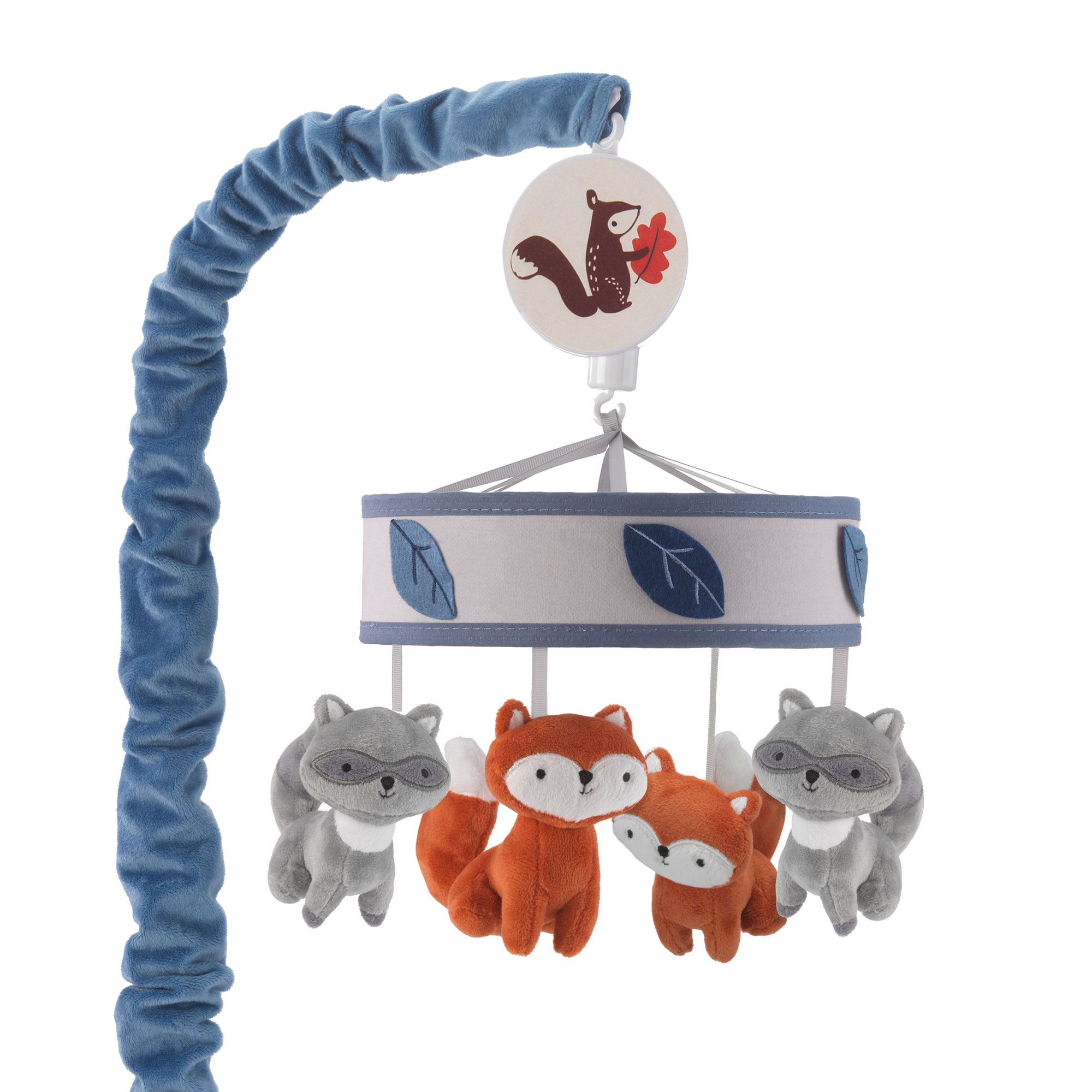 Lambs & Ivy Little Campers Musical Baby Crib Mobile Blue, White, Animals by Lambs %26 Ivy