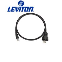 Leviton D6721-3E DuraPort Industrial Patch Cord Plug-to-RJ45 3-Foot - Black