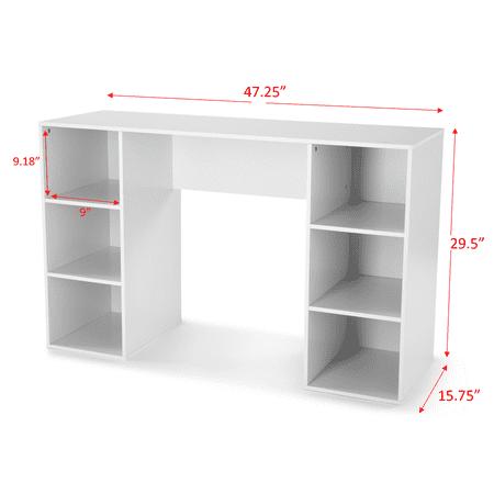 Mainstays 6 Cube Storage Computer Desk, Multiple Colors