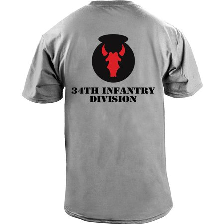Marine Division T-shirt - Army 34th Infantry Division Full Color Veteran T-Shirt