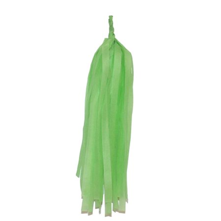 "Perfect Maze 12"" Tissue Paper Tassel DIY Party Garland For Engagement, Birthday, Bridal Baby Shower, Wedding Decoration 10 Pieces Apple Green"