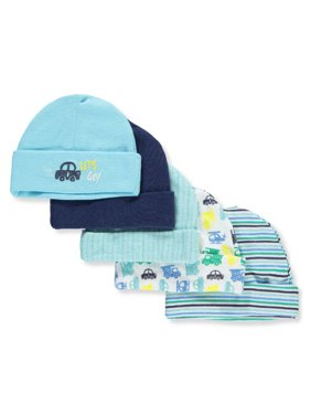 Cribmates Baby Boys' 5-Pack Caps