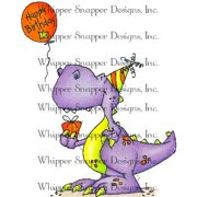 "Whipper Snapper Cling Stamp 4""X6""-Birthday Bagaceratops"