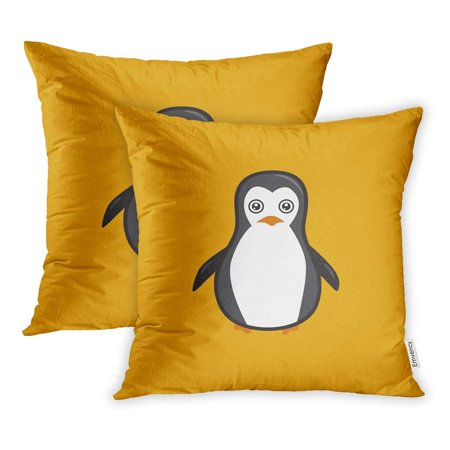 BOSDECO Abstract Penguin Idea Character Antarctica Pillowcase Pillow Cover 20x20 inch Set of 2 - image 1 of 1
