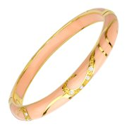 Peach Flourish Bangle Bracelet in 14kt Gold-Plated Sterling Silver