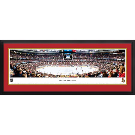 Ottawa Senators Center Ice at Canadian Tire Centre Blakeway Panoramas NHL Print with Deluxe Frame and Double Mat by
