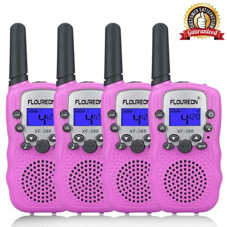 Clearance&Sale! Kids Walkie Talkies, FLOUREON 22 Channel Two-Way Radio Best for Kids Long Range 3000M Handheld Outdoor Interphone/Portable Toy Radio Transceiver(4