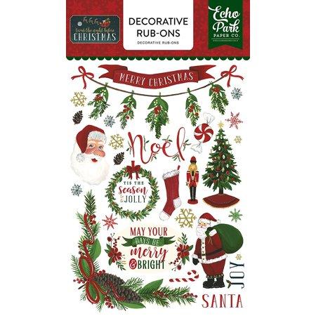 Twas the Night Before Christmas Rub Ons, Twas the night before Christmas rub ons By Echo Park Paper Company