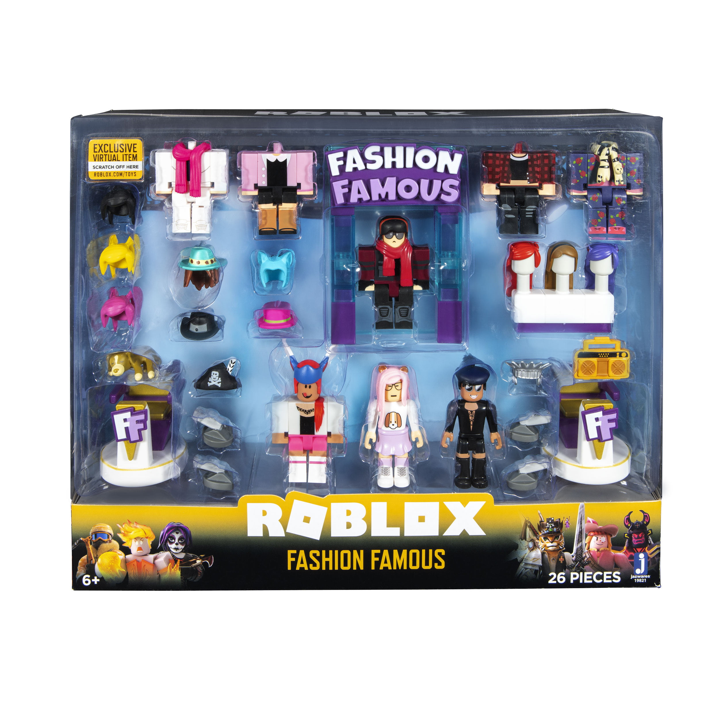 Roblox Fashion Famous Song Codes Roblox Games That Give Roblox Celebrity Collection Fashion Famous Playset Includes Exclusive Virtual Item Walmart Com Walmart Com