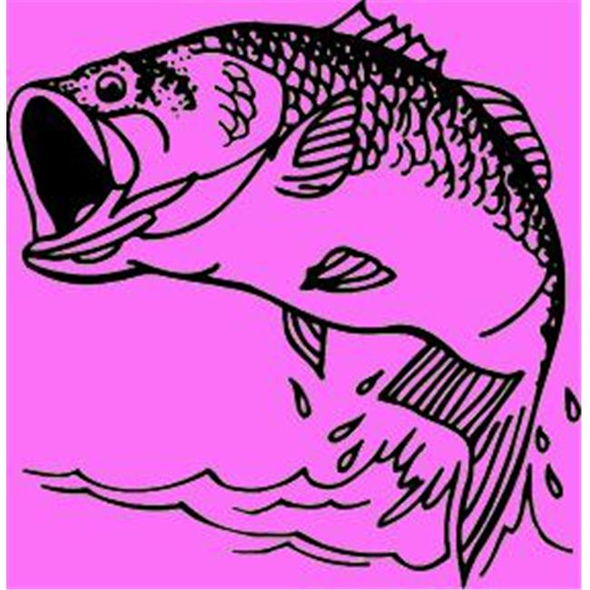 Western Recreation Ind 11031 Large Mouth Bass Decal 6X6