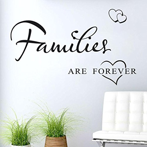 Wall Stickers,GOODCULLER Families Are Forever Removable Mural Wall Stickers Wall Decal Room Living Room Decor Mural Wallpaper Home Decor