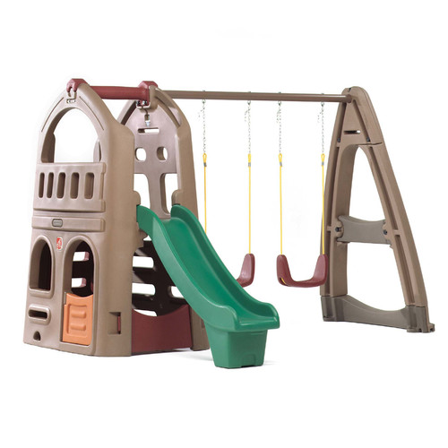 Step 2 Naturally Playful Playhouse Climber Swing Set