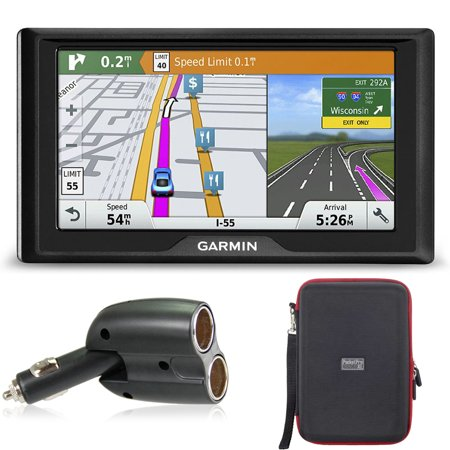 Garmin Drive 60LMT GPS Navigator (US and Canada Maps) Case and Car Charger Kit