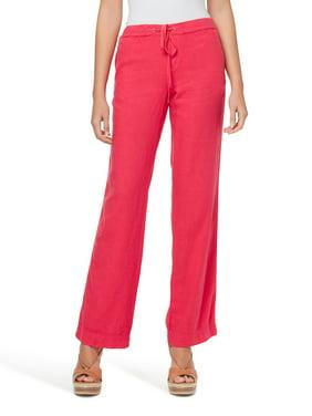 wodceeke Women Fashion Pants Solid Color High Waist Slim Stretch Pants Flare Pants Wide Leg Trouser