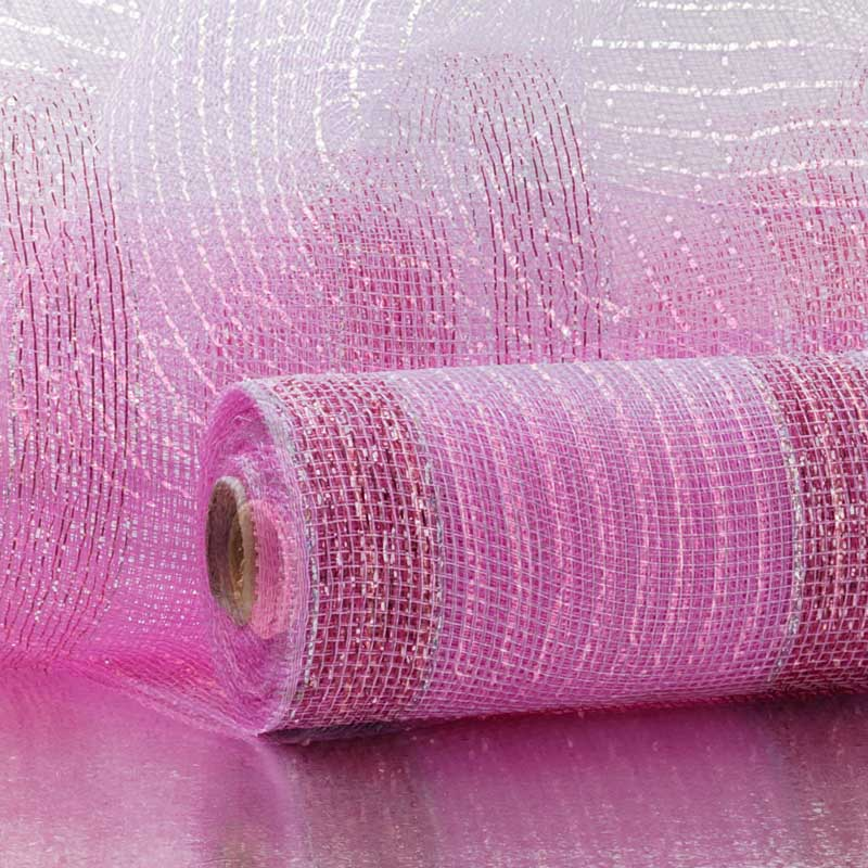 """2 1/2""""X20 Yards Gold W/Silver Mtlc Laser Deco Mesh Ribbon  by Paper Mart"""