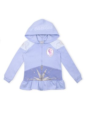 Disney Frozen 2 Elsa Toddler Girl Peplum Zip-Up Hoodie
