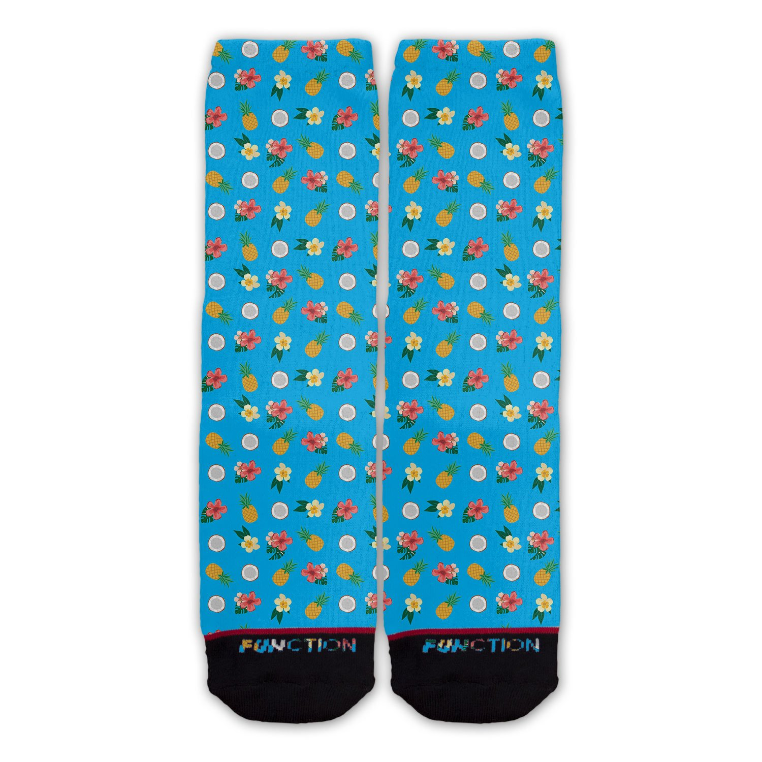 Function - Blue Tropical Pattern Fashion Sock