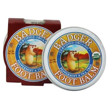 Foot Balm 2 Oz Tin - Foot Balm Peppermint & Tea Tree - 0.75 oz. by Badger (pack of 2)
