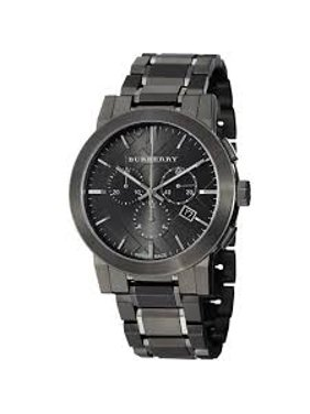 1d27374b11d3 Product Image Burberry Men s BU9354 Large Check Gray Ion Plated Stainless  Steel Watch