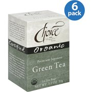 Choice Organic Teas Japanese Green Tea Bags, 1.1 oz, (Pack of 6)