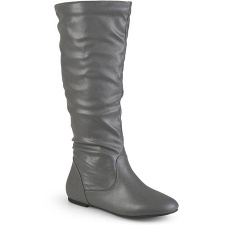 Slouch Riding Boots - Women's Extra Wide-Calf Mid-Calf Slouch Riding Boots