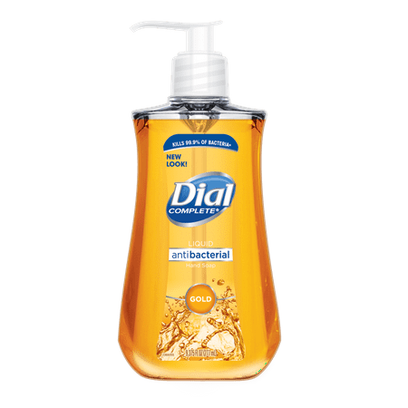 (Pack of 4) Dial Antibacterial Liquid Hand Soap, Gold, 9.375 Ounce (Contempo Soap)
