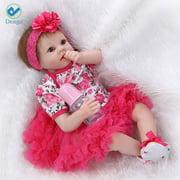 Deago 22inch Soft Vinyl Reborn Baby Dolls Handmade Lifelike Alive Baby Doll Toys For Kids Girls Chirstmas New Year Gifts