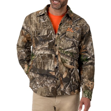 Men's Camo Flannel Quilted Lined Shirt Jacket Carhartt Quilted Flannel