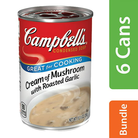 - (6 Pack) Campbell's Condensed Cream of Mushroom with Roasted Garlic Soup, 10.5 oz. Can