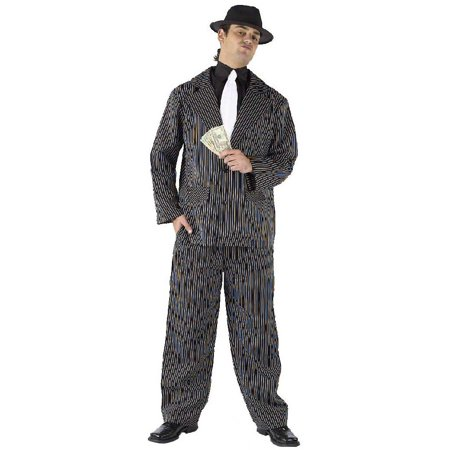Gangster Pinstriped Suit Costume Adult