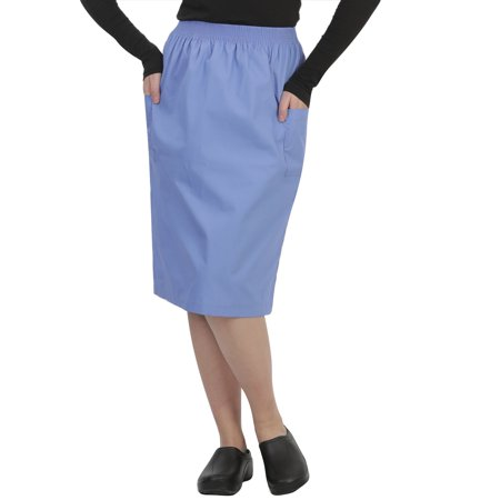 MAZEL UNIFORMS WOMENS A-LINE SCRUB SKIRT WITH CARGO POCKETS (Barco Uniforms 2 Pocket)