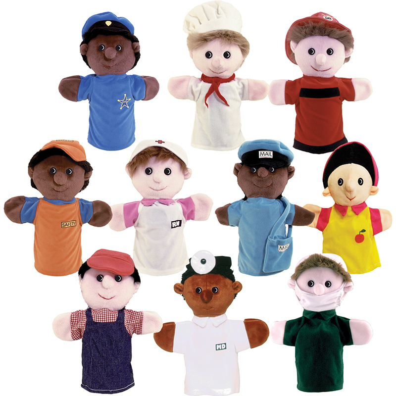 Community Helper Puppets, Set of 10 by GET READY KIDS