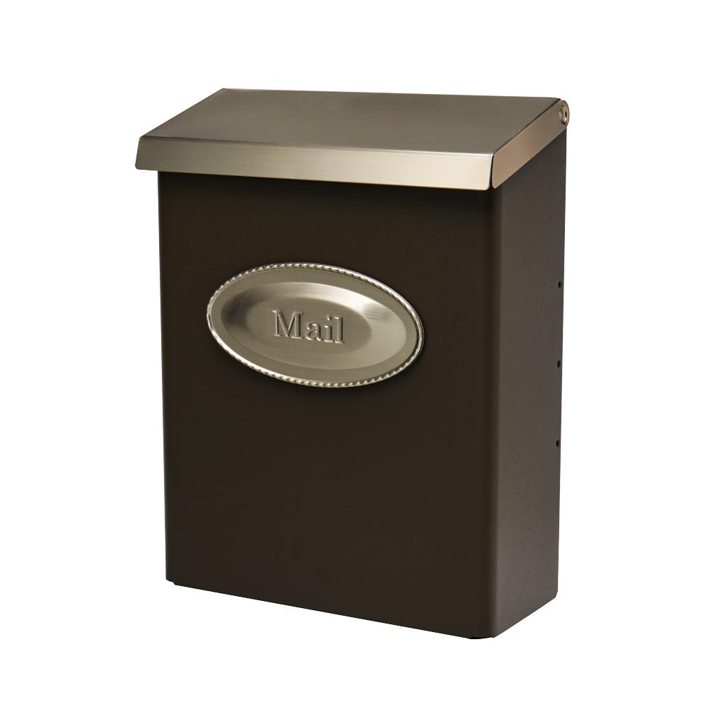 Gibraltar Mailboxes Designer Locking Galvanized Steel Bronze Wall Mount Mailbox, DVKPBZ00 by Solar Group