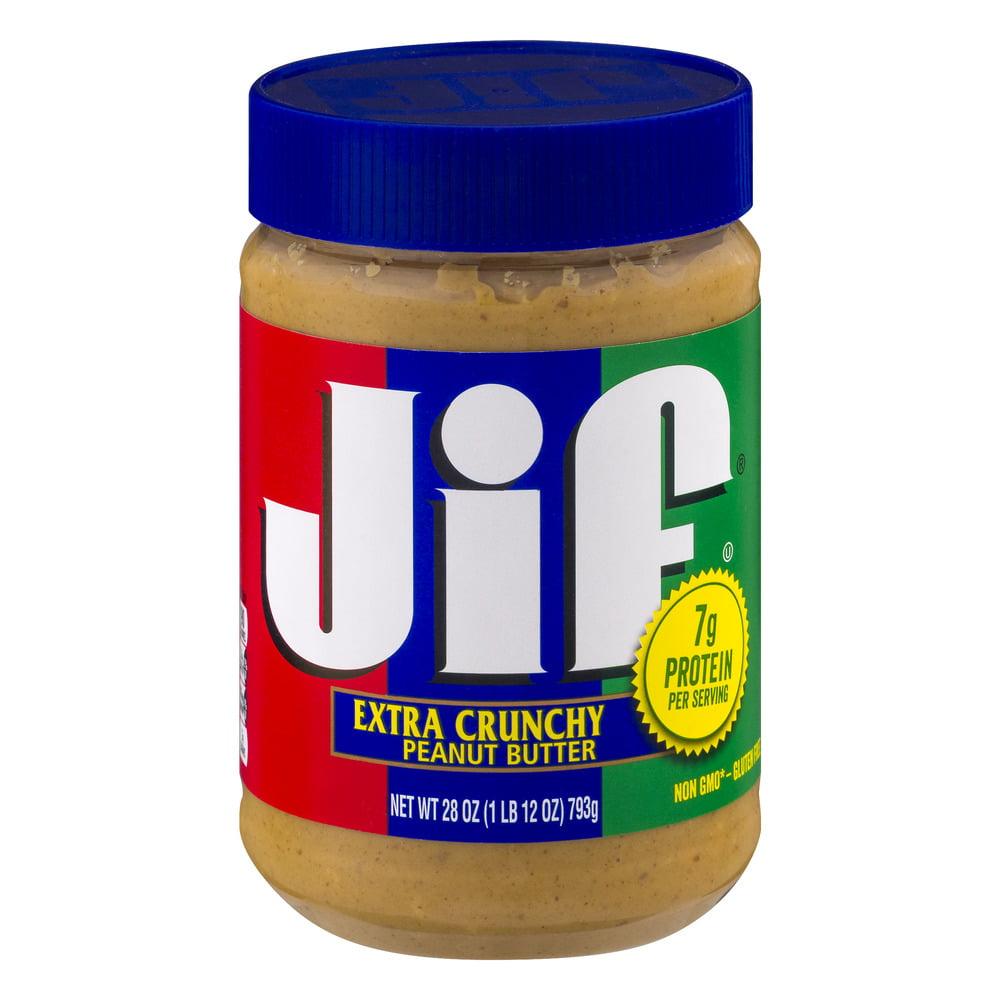 Jif Extra Crunchy Peanut Butter, 28.0 OZ