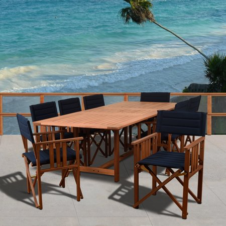 Amazonia  Orlando Blue 9 Piece Rectangular Patio Dining Set ()