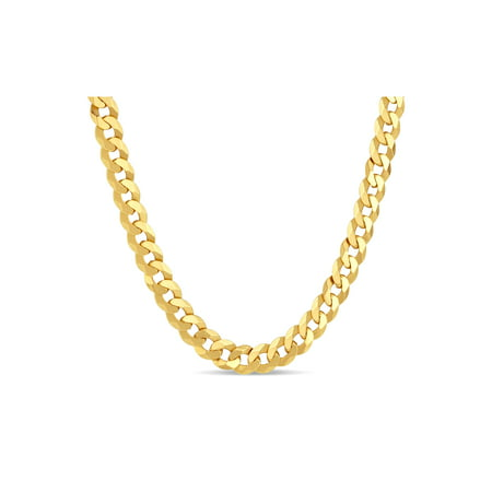 18k Gold Over Sterling Silver Mens Curb 200 Gauge Chain Necklace 30 Inches