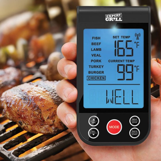 Expert Grill Wireless Grilling Thermometer - Walmart.com