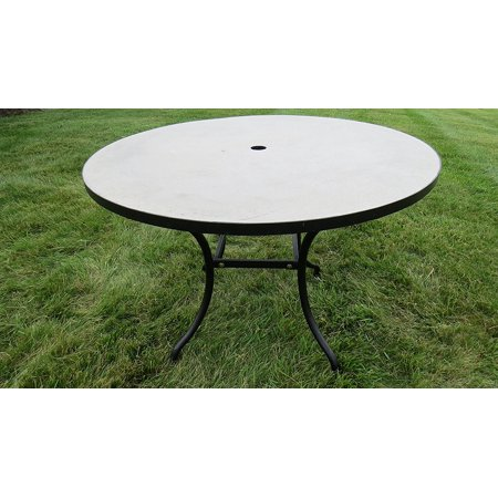 Outdoor Round Concrete Cement Patio Dining Table Natural