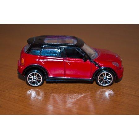 Canvas Print Little Car Child Mini Fun Boy Toy Kid Red Stretched 10 X 14