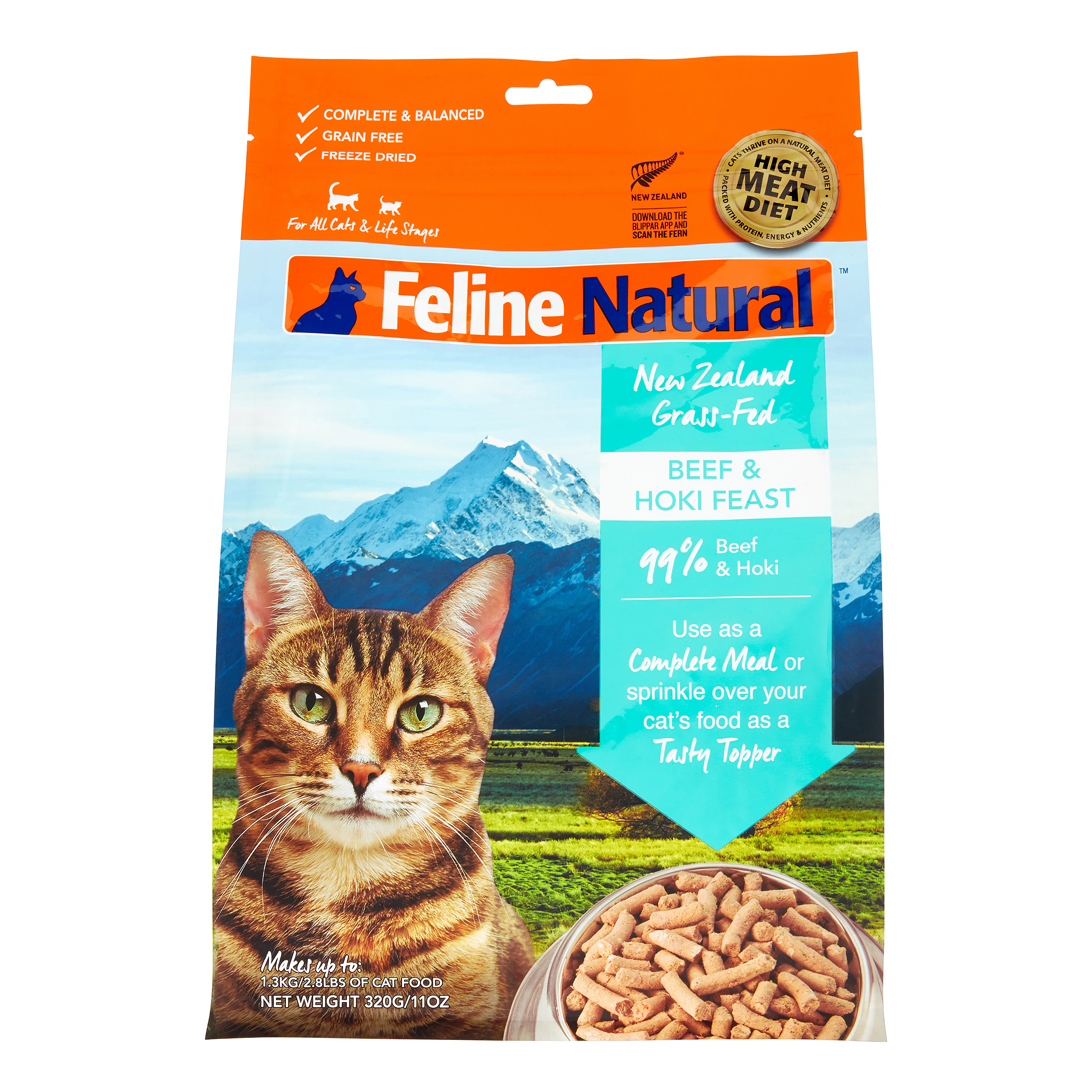 K9 Natural Feline Natural Freeze Dried Beef and Hoki Feast, 11 Oz by Mars Petcare