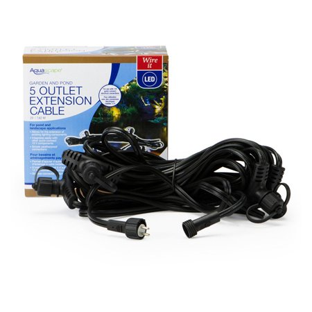 - Aquascape Lighting Cable with 5 Quick Disconnects