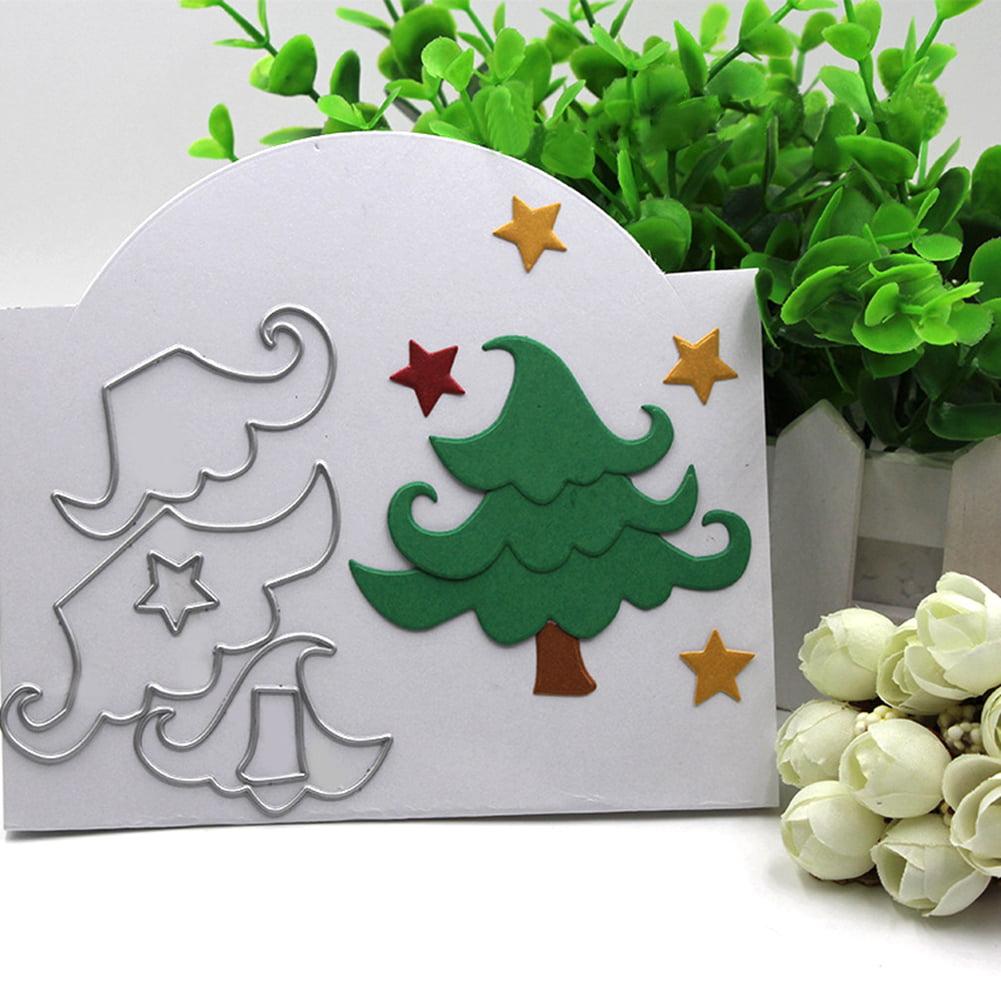 Directer Cartoon Christmas Tree Star Cutting Die DIY Scrapbooking Card Making Stencil