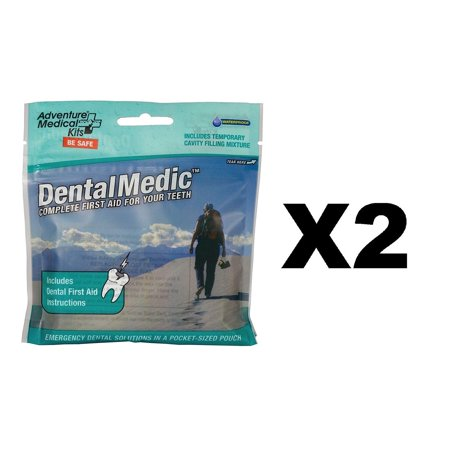Dental Medic Kit (2 Pack), Ultralight, waterproof, and pocket-sized By Adventure Medical Kits,USA