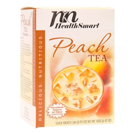 HealthSmart - High Protein Diet Tea - Hot or Iced Tea - Peach - 15g Protein - Low Calorie - Low Carb - Sugar Free - Gluten Free - (Low Carb Chai Tea)