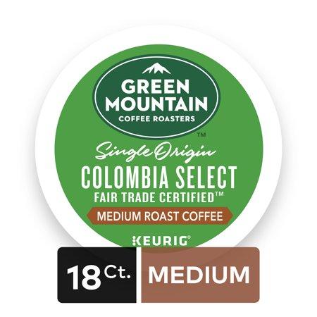 Fair Trade Sweet - Green Mountain Coffee Roasters Colombian Fair Trade Select Keurig Single-Serve K-Cup Pods, Medium Roast Coffee, 18 Count