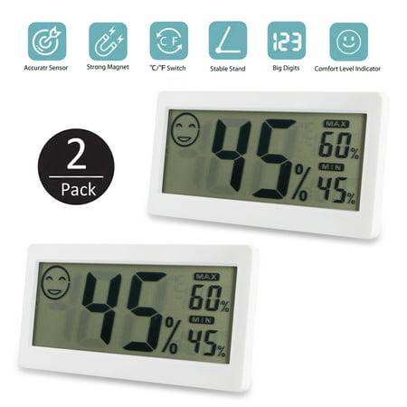 Hygrometer Thermometer, EEEKit 2-Pack 3.3